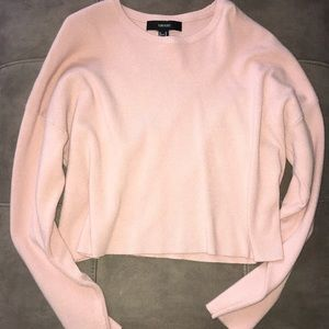 Cropped Forever 21 pink sweater